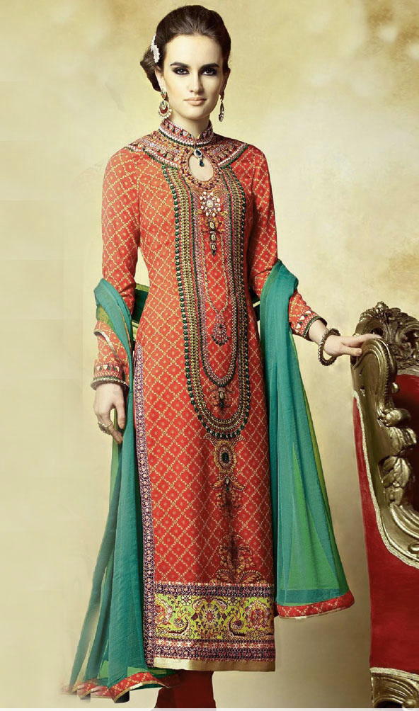 best Mehndi Dresses Simple Salwar Kameez