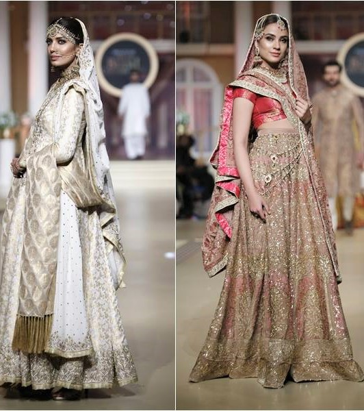 Bride lehnga Pantene Bridal Couture Week Mehndi Dresses collection