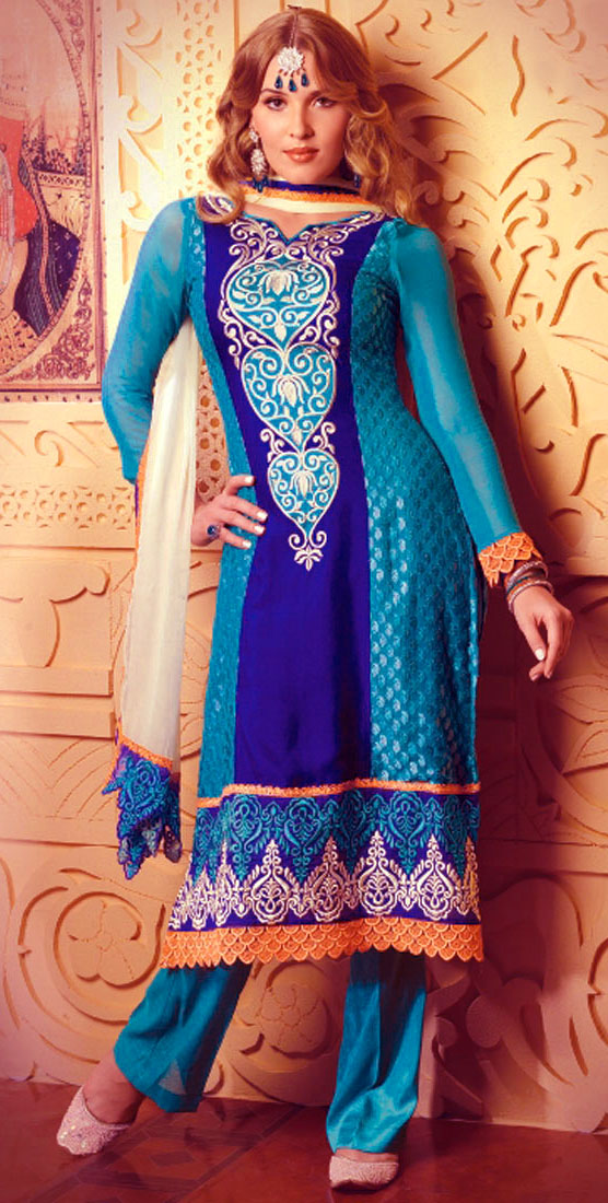 cotton Mehndi Dresses Simple Salwar Kameez