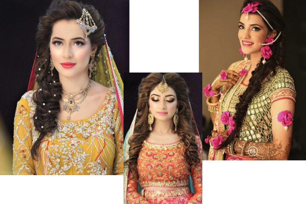 Best Bridal Hairstyles With Mehndi Dress Ideas 2021