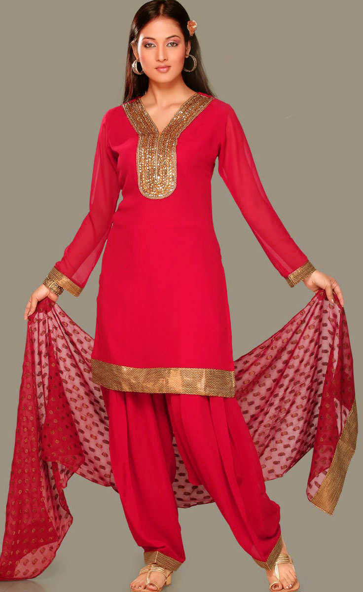 new Simple Salwar Kameez design