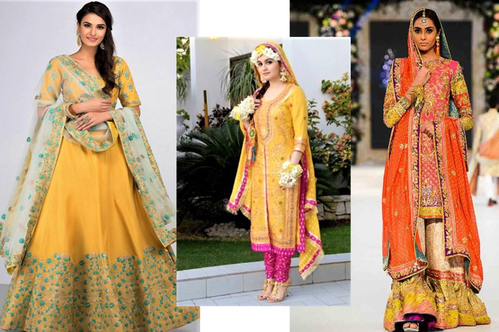 Pakistani Mehndi Dresses Designs for Brides 2021-22