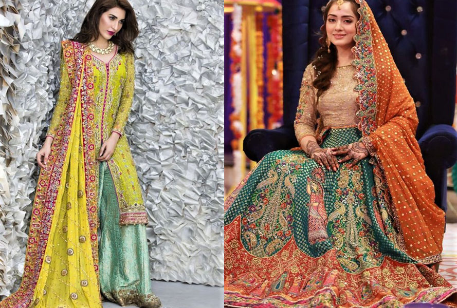 Inspired Asian Wedding Mehndi Dresses Fashion 2021