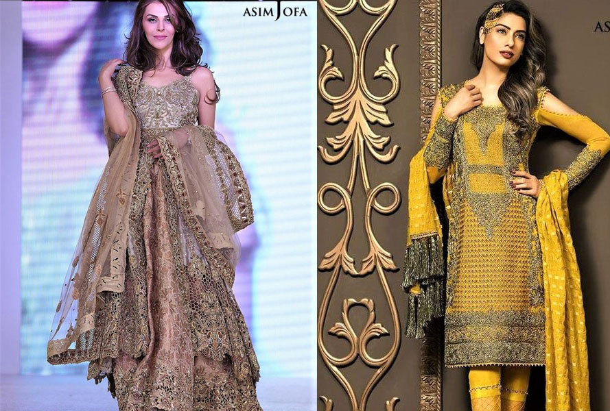 Asim Jofa Mehndi Dresses Chiffon Collection