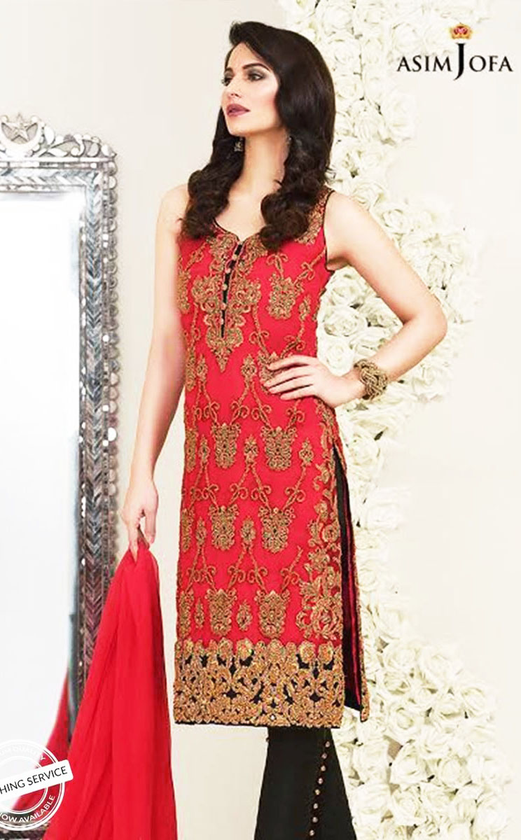 Luxury Asim Jofa Mehndi Dresses Chiffon Collection