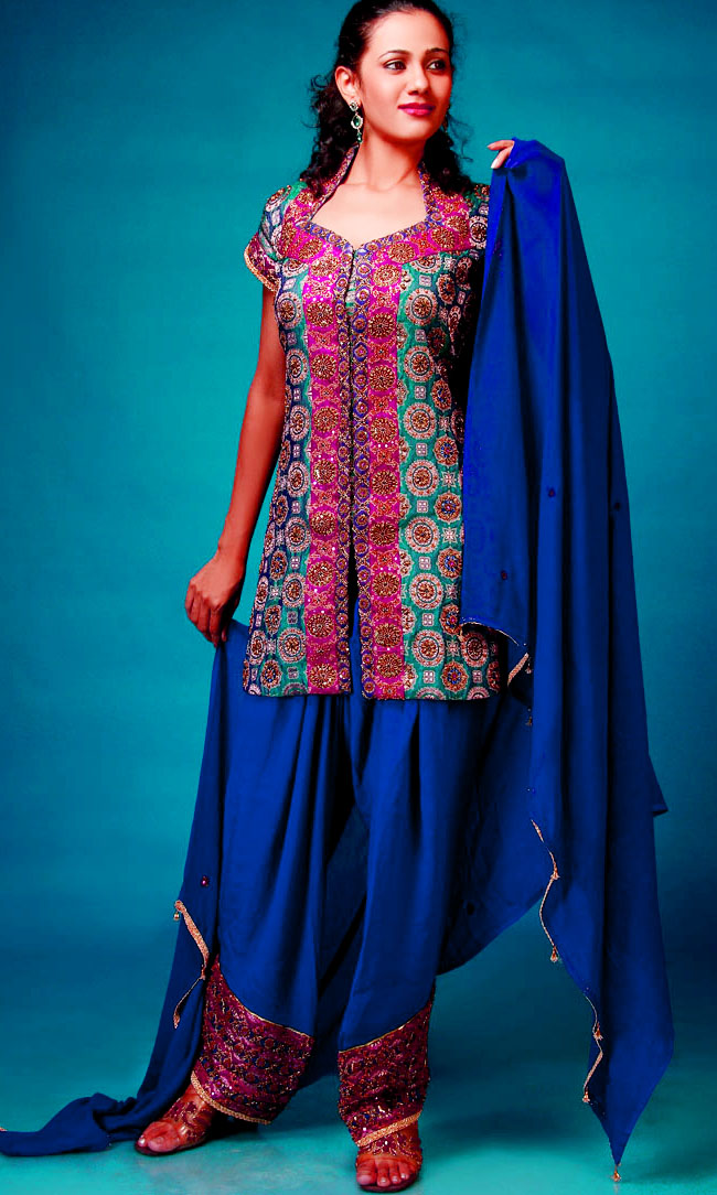 New Variety Mehndi Dresses With Patiala Salwar Kameez