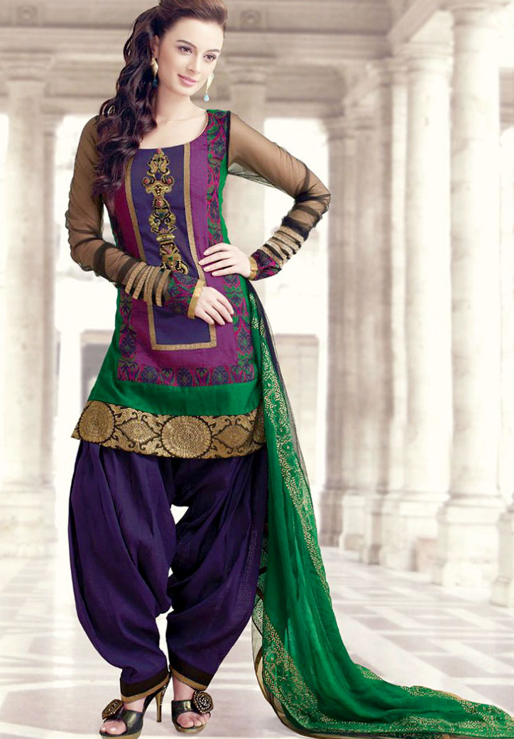 Mehndi Dresses With Patiala Salwar Kameez for mehndi