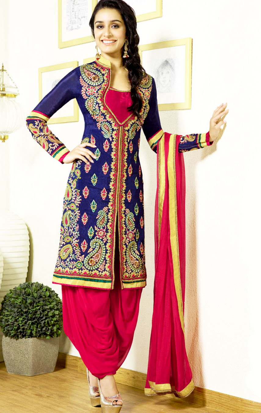 Mehndi Dresses With Patiala Salwar Kameez for mehndi function