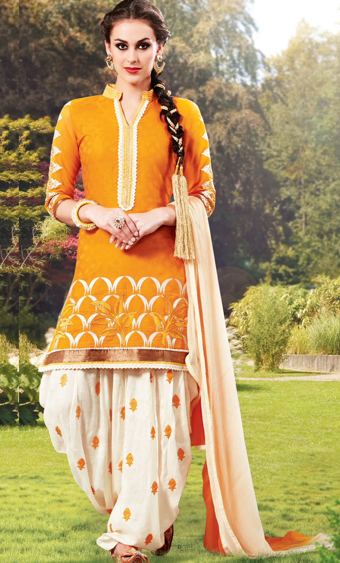 Mehndi Dresses combination With Patiala Salwar Kameez