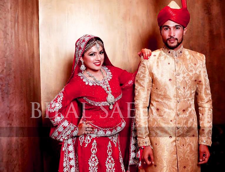 Beautiful muhammad Amir Pakistani Celebrities Mehndi Dresses