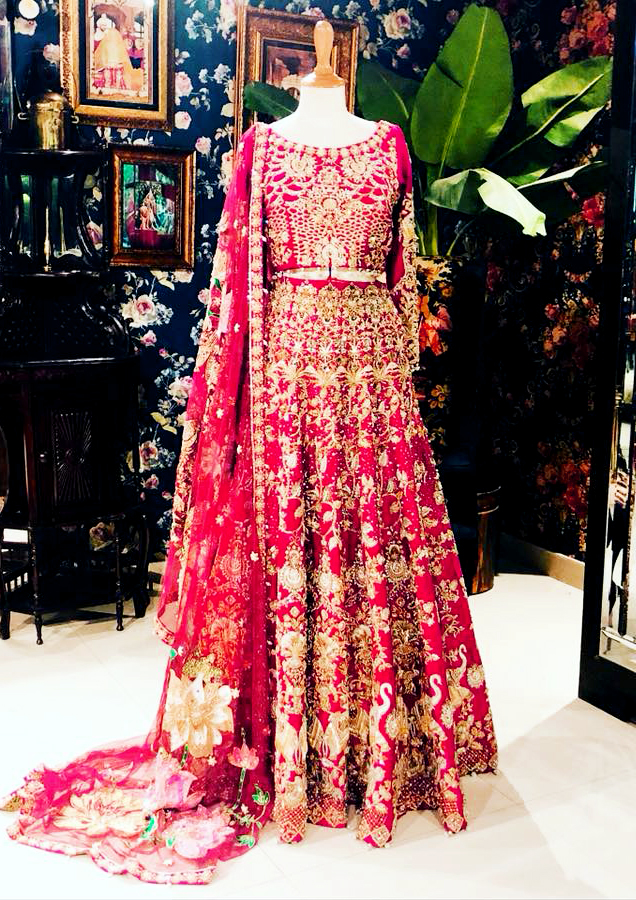 Mehndi bridal Dresses by Ali Xeeshan