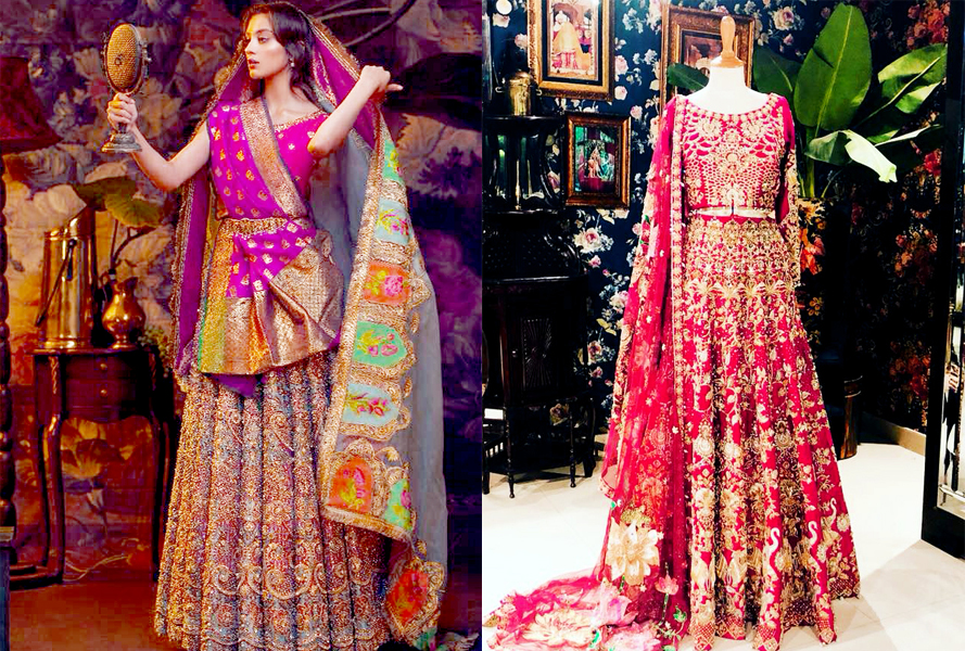 Mehndi Dresses by Ali Xeeshan Bridal Collection 2021