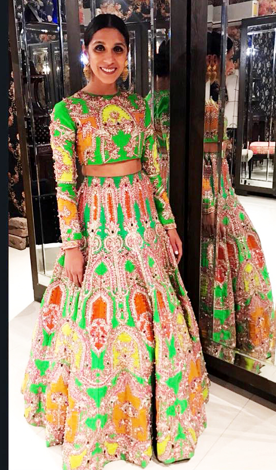 Formal Mehndi Dresses by Ali Xeeshan
