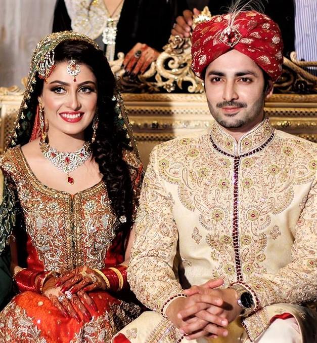 Ayeza Khan and Taimoor wedding Mehndi Dresses