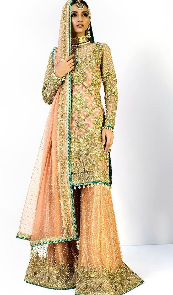 Nomi Ansari Bridal Mehndi Dresses collection party wear
