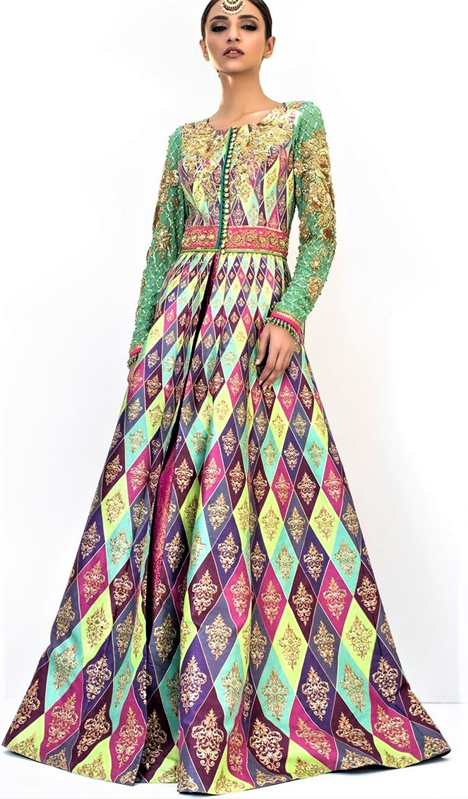 Nomi Ansari Bridal Mehndi Dresses summer collection