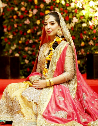Shahid Khaqan Abbasi son bridal Pakistani Celebrities Mehndi Dresses