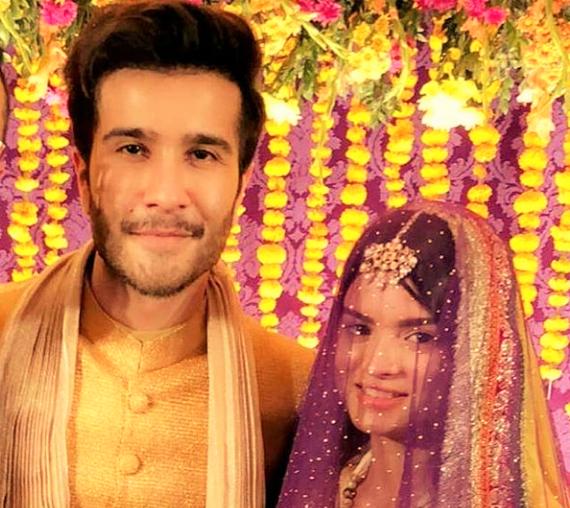 Sajal Ali and Feroz Khan wedding dresses