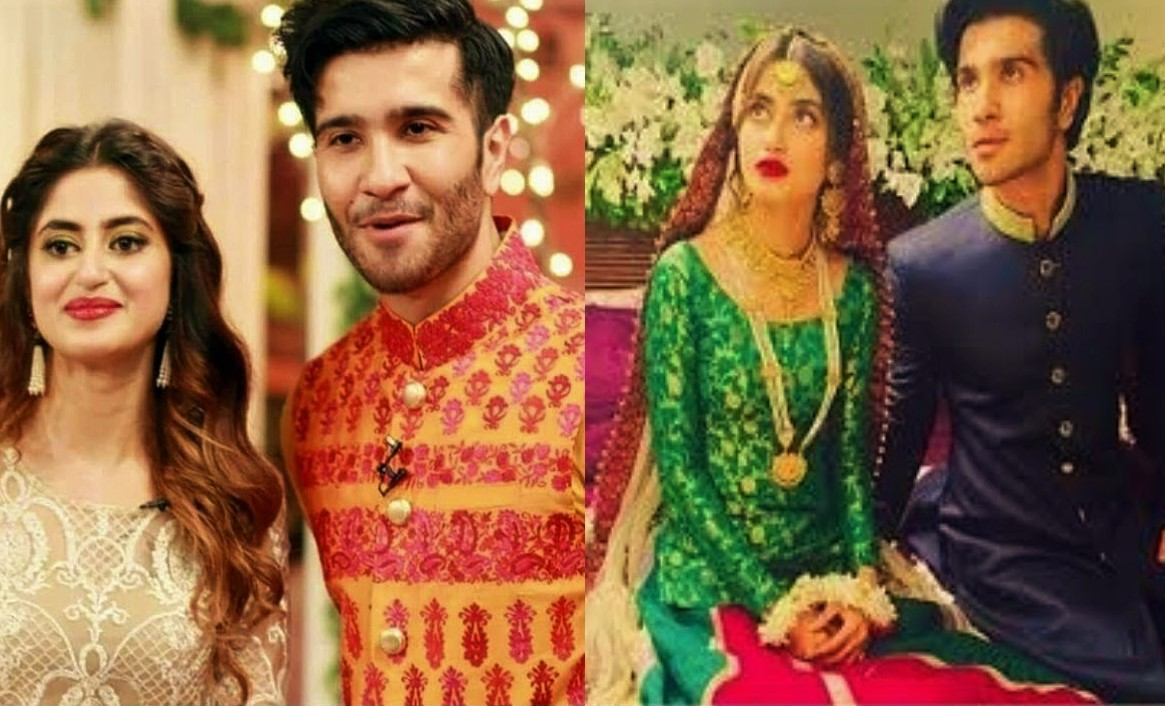 sajal ali Pakistani Actresses Mehndi Dresses