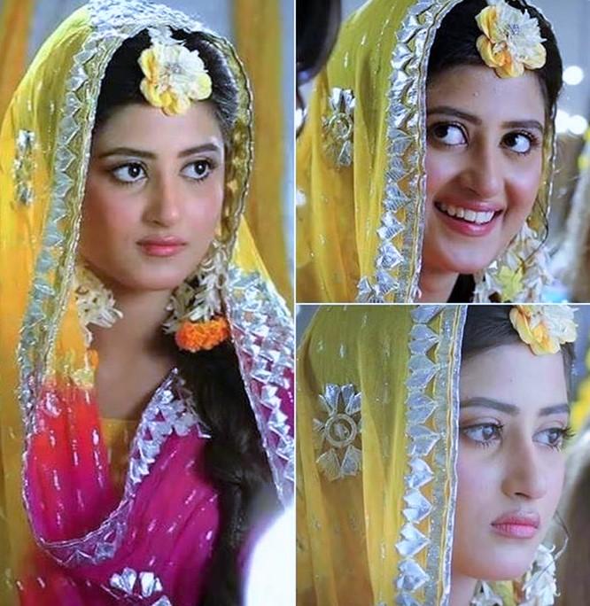Pakistani Actresses Sajal Ali Mehndi Dresses