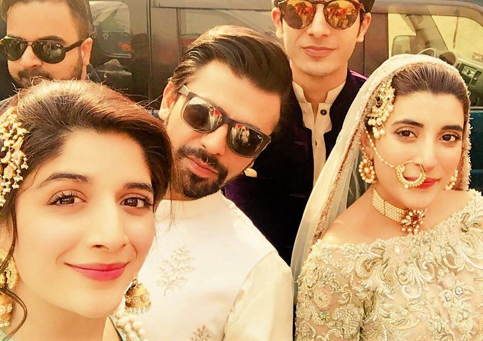 Pakistani Actresses Mehndi Dresses