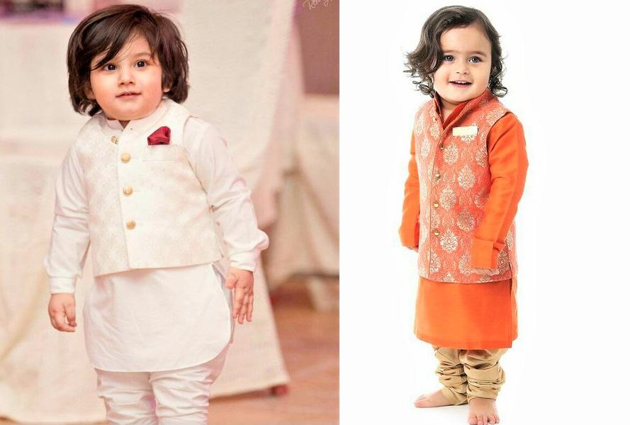 Trendy Mehndi Dresses for Baby Boy Designs