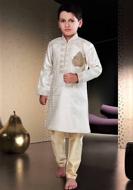 Pakistani Mehndi Dresses for Baby Boy