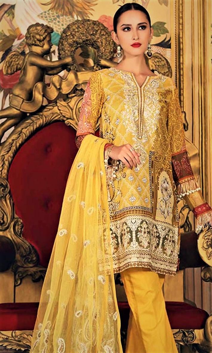bridal Mehndi Dresses By Gul Ahmed