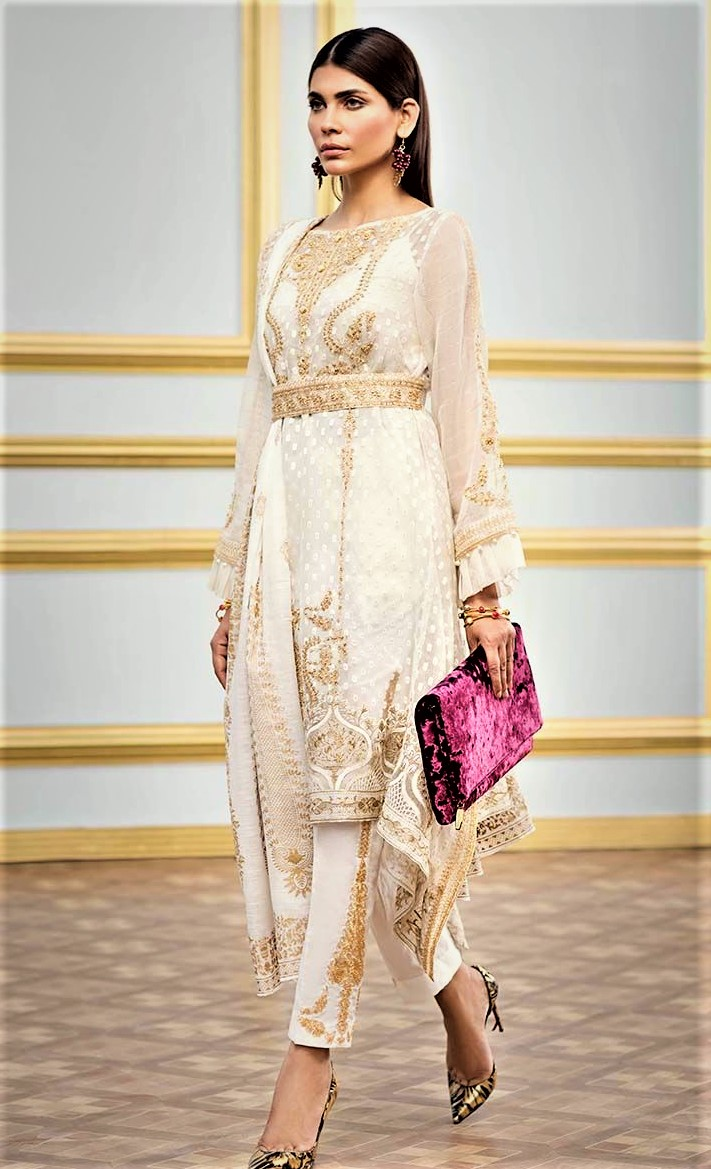 casual wear Mehndi Dresses By Gul Ahmed