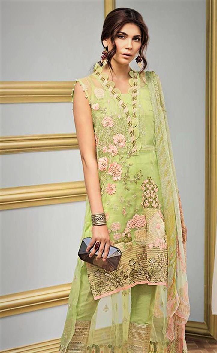 latest gul ahmed Mehndi Dresses