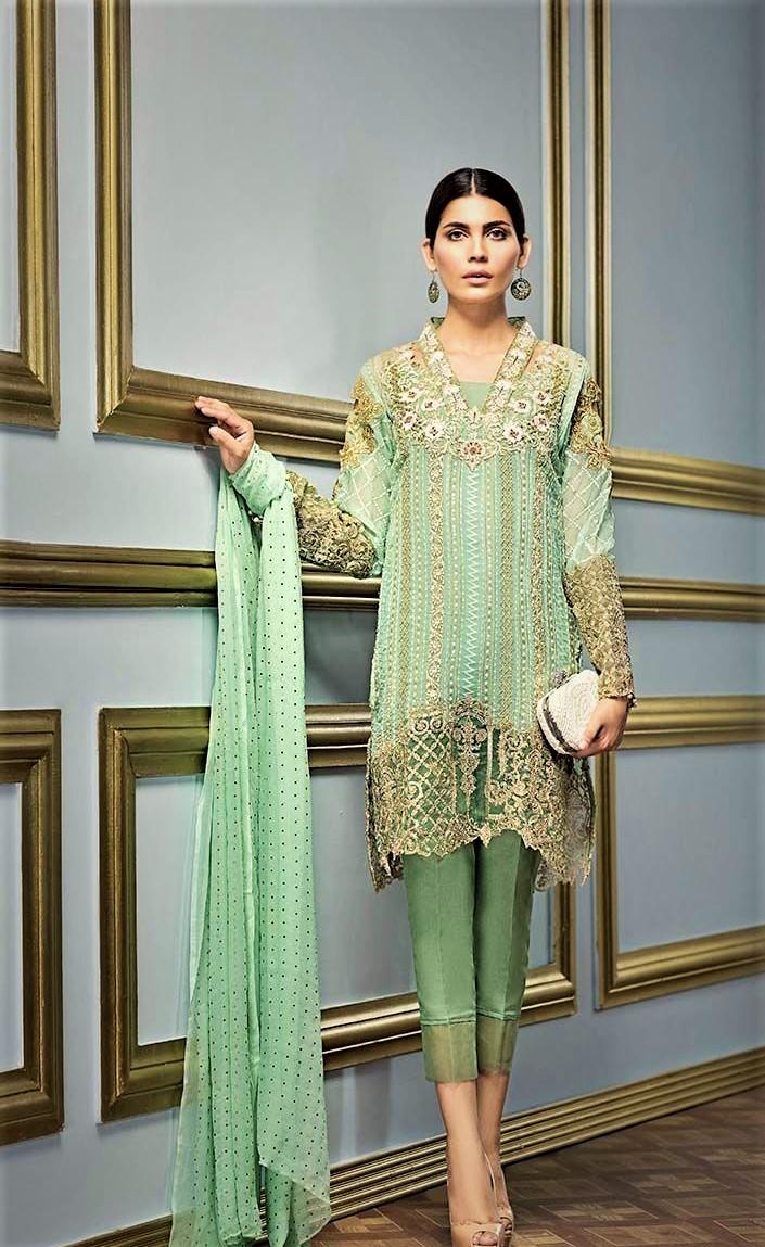 gul ahmed wedding mehndi dresses