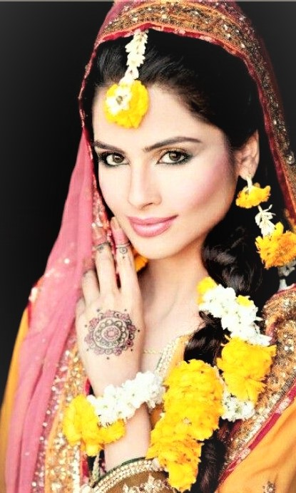 bride jewllery for mehndi dresses