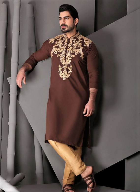 Mehndi Dresses for Man embroidery kurta