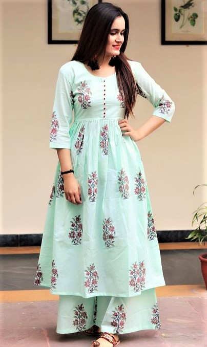 beautiful Long Shirt Mehndi Dresses Designs with Palazzo