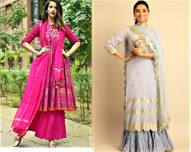 15 Long Shirt Mehndi Dresses Designs with Palazzo
