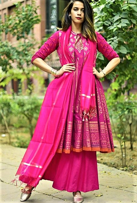 Long Shirt Mehndi palazzo dress designs