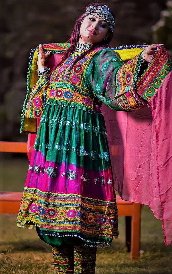 Afghani Mehndi Dresses For Wedding in Pakistan