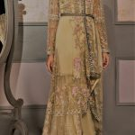 Bridal Mehndi Dresses wedding gowns by Elan Collection