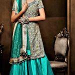 Elegant Expensive glamorous Embroidery Mehndi Dresses