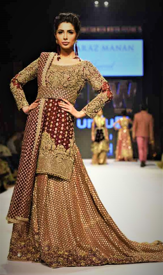 Long Tail Mehndi Dresses in Pakistan