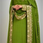green sharara mehndi dresses