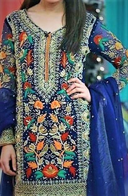 Pakistani Embroidery Handmade Mehndi Dresses