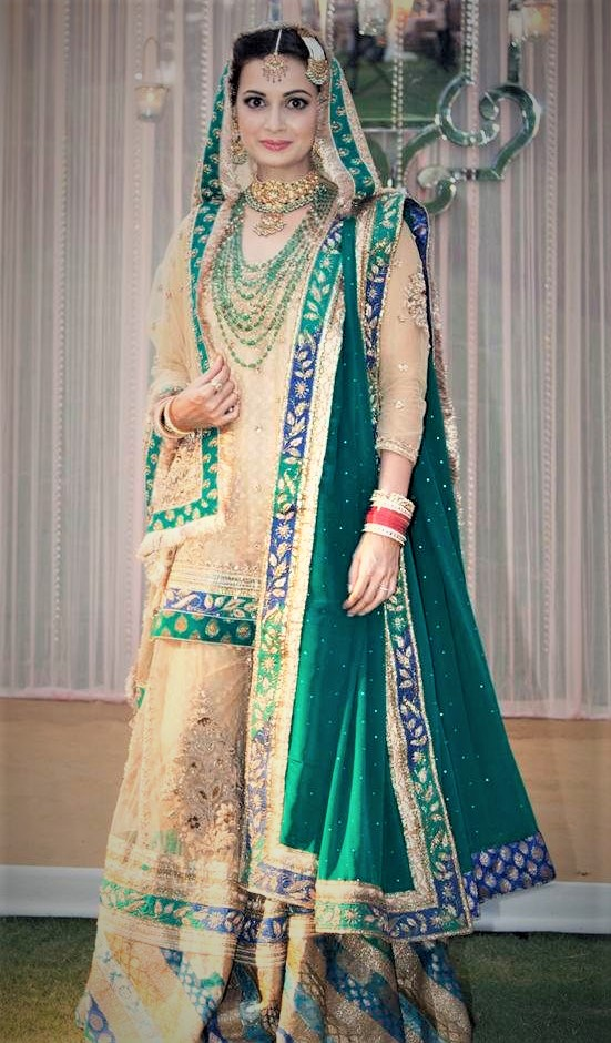 Latest Bridal Hyderabadi Mehndi Dresses