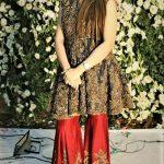 Mehndi Dresses in Jamawar Sharara Gharara style