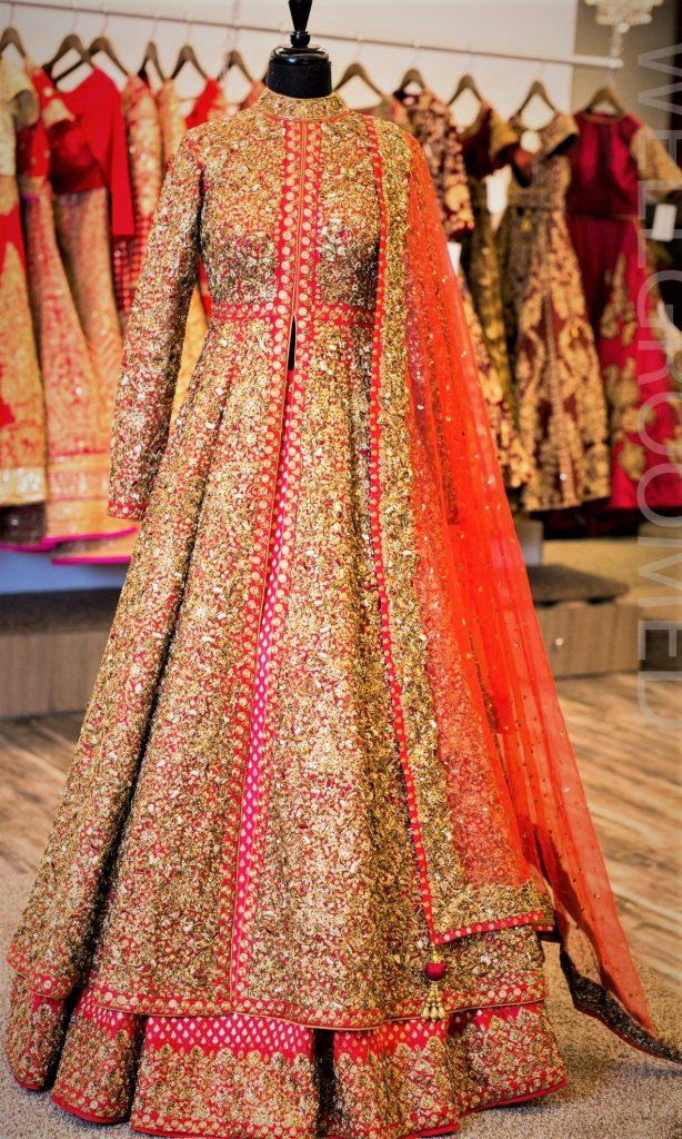 Punjabi Mehndi Dresses Lacha for Girls