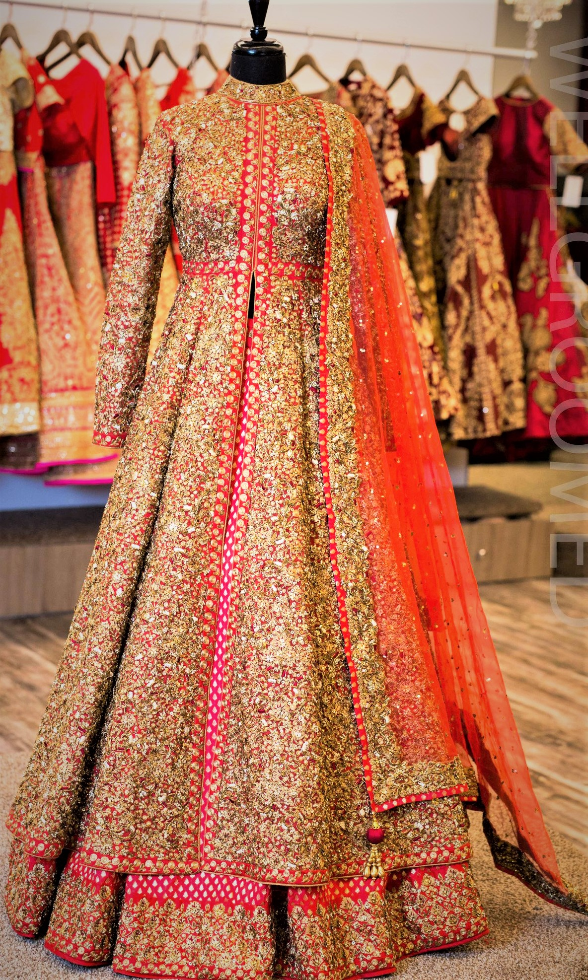 Punjabi Mehndi Dresses Lacha for Girls