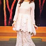 latest sharara Mehndi Dresses in White Colour Pakistani