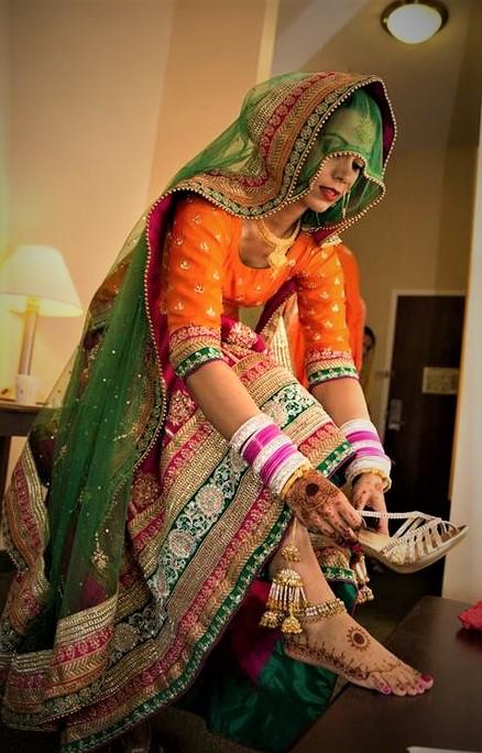 Vintage Unique Mehndi Dresses For Wedding bridesmaid