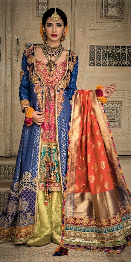 Mehndi Dresses by Nilofer Shahid Bridal Couture Collection