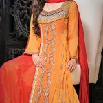 Mehndi Dresses in Orange Colour Contrasts Pakistani